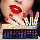 12pcs Lipstick Set 12 Color Matte Non stick Cup Lipstick Moisturizing Cream Moisturizing lipstick 12 colors