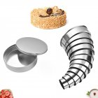 12pcs/Set Stainless Steel Round Mold Practical  Circle DIY Biscuit Mousse Cake Dessert Pastry Decorating Tool Silver