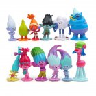 12pcs Trolls Action Kids Toys