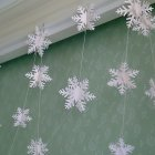 12pcs/set Silver White Cardboard Snowflake Christmas New Year Decoration Hanging Banner White solid snowflake