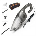 12v 120w 7000pa Wired Dry/wet Handheld Vacuum Cleaner Cigarette Lighter Powerful Suction Vacuum Cleaner gray_wired