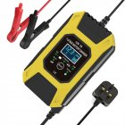 12v 24v Multifunctional Smart  Charger 7-stage Automatic Charging Battery Charger yellow_UK-British regulations