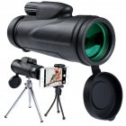 12x50 Monocular Telescope High Power HD Monocular for Bird Watching Camping Hiking Match  black