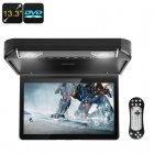 13 3 Inch Car DVD Player allows you to watch movies and play 32 bit games in stunning HD resolution