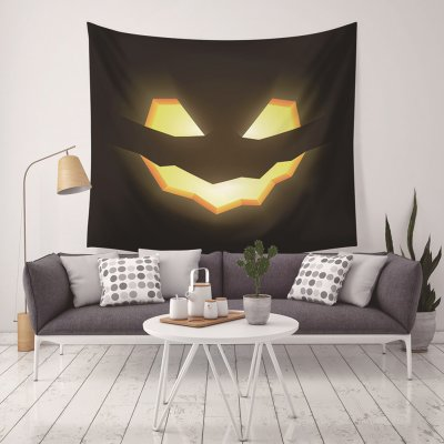 130X150CM Holloween Printed Tapestry Blanket