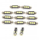 13pcs White Car Dome Map Reading LED Interior Light for Audi A8 / S8 (D3) 2002-2009