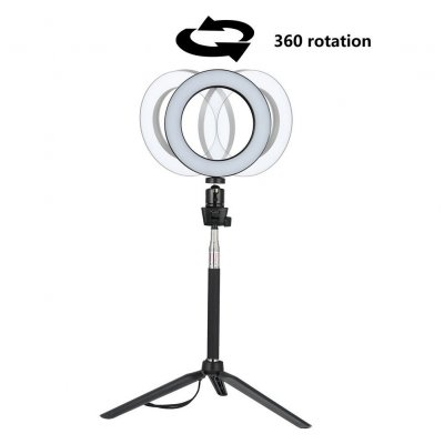 Dimmable LED Ring Light Selfie Light Lamp