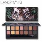 14 Colors Natural Matte Glitter Eyeshadow Makeup Waterproof Nude Color Shimmer Tiger Eyeshadow Palette 14 colors