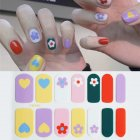 14 Pcs Nail Sticker Waterproof Nail Beauty Nails Decal YW-369