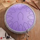 14-inch 15-tone Steel Tongue Drum B-grade Carbon Steel Color Hollow Drum Percussion Instrument For Adult And Child [C tone gold shield models] carbon steel-purple