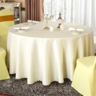 140cm Solid Table Cloth Round Satin Tablecloth Wedding Party Restaurant Home Table Cover  White_Round 140cm
