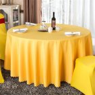 140cm Solid Table Cloth Round Satin Tablecloth Wedding Party Restaurant Home Table Cover  golden_Round 140cm