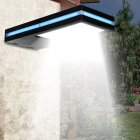 144LEDs Solar Power Motion Sensor Wall Lamp High Brightness with Blue Side Light Strap White light   blue light