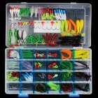 146 Pcs Soft Lure Set Sea Fishing Tackle Fishing Lure Silicone Bait Soft Worm Shrimp Carp Fishing Accessories 146 pcs/set