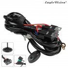 14AWG 9-16V 300W LED Light Bar Wiring Harness With On/Off Relay Switch Kit black