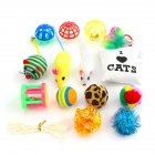 14Pcs Set Simulate Mouse Bell Plush Ball Toy Set for Pet Cats 14 pcs set