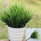 15  Artificial Fake Plastic Green Grass Plant Flowers Office Decor Nice For YOU