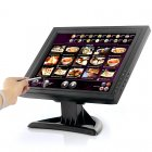 15 Inch LCD Touch Screen monitor for PC or POS System with 1024x768 Resolution  VGA  HDMI and TV in