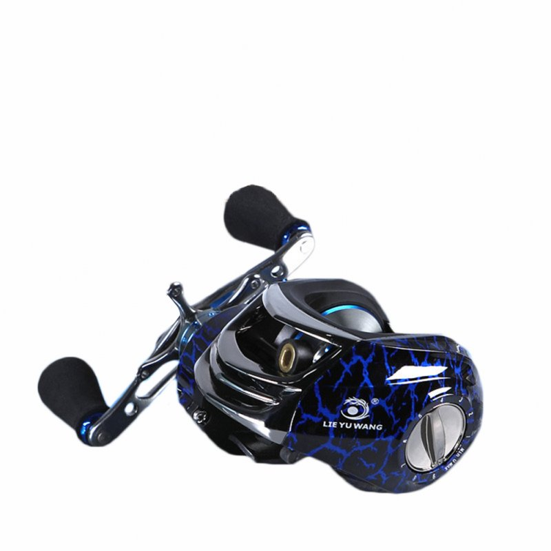 Leopard Baitcasting Fishing Reel Blue Right h