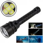 15000LM XML T6 LED Strong Light Diving Flashlight Torch Underwater Waterproof Light Tactical Lantern lamp black