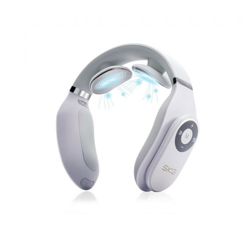 1500mA Smart Electric Neck Massager Heating Pain Relief Tool 3D massager white