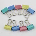 15MM Colorful Metal Binder Clips Paper Clip Office Stationery Binding Supplies 60PCS Set
