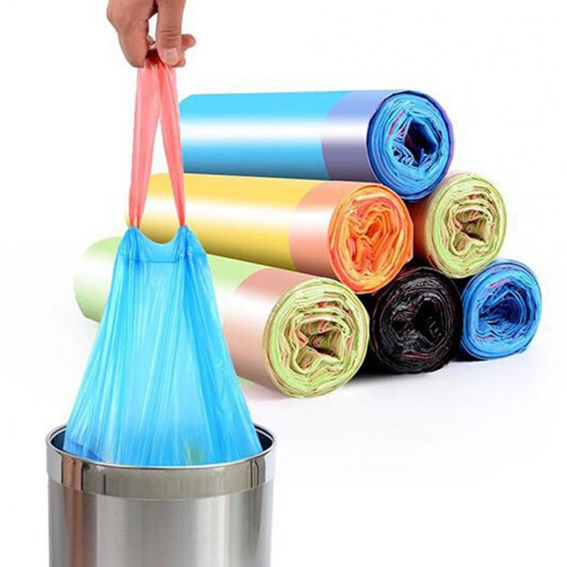 15Pcs/Roll Thicken Garbage Bag with Drawstring for Kitchen Living Room Toilet Trash Bin 15pcs/roll