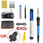15Pcs Soldering Iron Kit Electronics 60W Adjustable Temperature Welding Tool 220V UK Plug 15-piece set