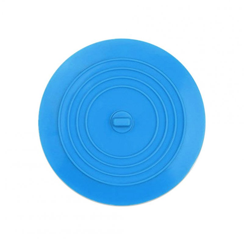 15cm Round Strainer Cover Silicone Sink Filter Plug for Kitchen Bathroom Sink blue