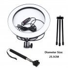 16/26cm Dimmable LED Studio Camera Ring Light Phone Video Light Lamp Selfie Stick Ring Table Fill Light 26CM set