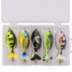 16.5G/6CM Rotate Tail Popper Lure Topwater Wobble Fishing Lures Bait Bass Fishing Tackle 5 boxes