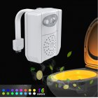 16-Color UV Sanitizer Toilet Bowl Light Night Light Motion Sensor Activated LED Lamp Gadget  16-color UV sterilization