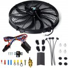 16 Inch Electric Radiator Cooling Fan Mounting Kit 175 185 Degree Thermostat Relay Switch Kit