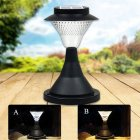 16 LED Outdoor Garden Path Landscape Fence Yard Pillar Lamp Solar Powered LED Light Warm lightWhite light