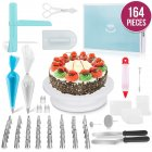 164Pcs/Set Cake Turntable Baking Tool Plastic Fondant Tool Kitchen Dessert Baking Pastry Supplies 164 pcs/set