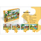 168PCS Kids Puzzles Colorful Educational Toy Stress Reliever 168PCS