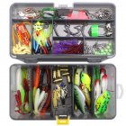 168pcs Professional Plastic Artificial Fish Bait Suit Dying Cicada Climb Minno Versatile Bait Fishing Tackle 168 pieces (without pliers)_Gun color double box