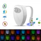 16Colors LED Toilet Night Light Motion Sensor USB Charging with UV Violet Sterilization Function  16 colors