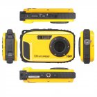 16MP 2 7   HD LCD Waterproof Digital Video Camera DVR Camcorder 8X ZOOM yellow