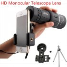 16X52 High Power HD Monocular Telescope Lens with Night Vision for All Outdoors  16 52 set