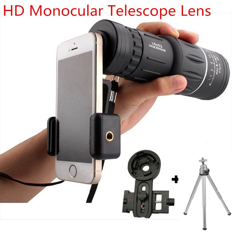 16X52 High Power HD Monocular Telescope Lens with Night Vision for All Outdoors  16*52 set