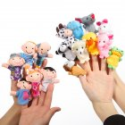 16pcs Cartoon Animal Plush Finger Puppets Set