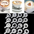 16pcs set DIY Decorating Cake Cappuccino FoamTool Thicken Coffee Latte Art Stencils Mold White