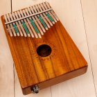 17 Key Thumb Piano Kalimba Toy Acacia Wooden Music Instrument Gift Wood color