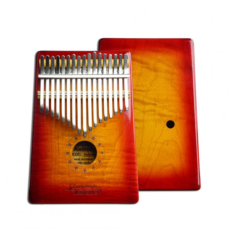 17 Key Wooden Thumb Piano Kalimba in C Music Instrument Toy Gift Portable Sunset color