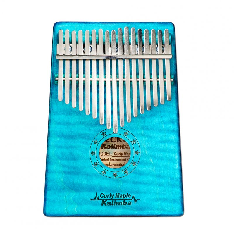 17 Key Wooden Thumb Piano Kalimba in C Music Instrument Toy Gift Portable blue