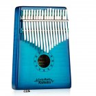 17 Key Wooden Thumb Piano Kalimba with EQ Tiger Pattern Maple Music Instrument Toy Gift blue