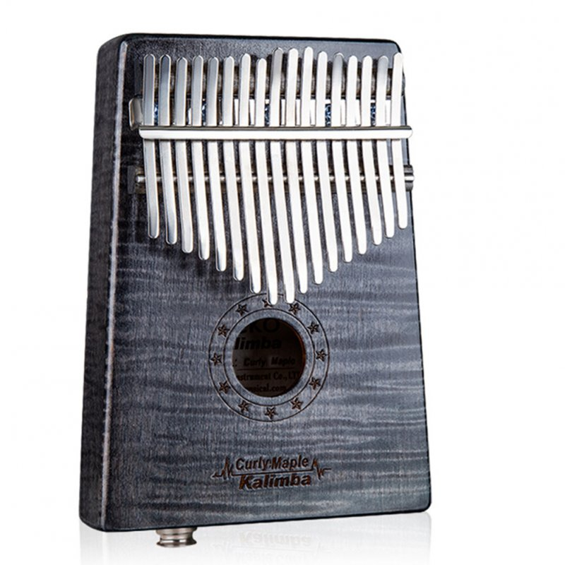 17 Key Wooden Thumb Piano Kalimba with EQ Tiger Pattern Maple Music Instrument Toy Gift black