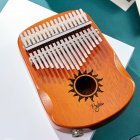 17 Keys EQ Kalimba Sun Pattern Mahogany Thumb Piano Classic Musical Instrument Wood Keyboard With Arc Hand Guards Natural EQ Kalimba
