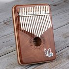 17 Keys Kalimba Mbira African Mahogany Finger Thumb Piano Wooden Keyboard Percussion Musical Instrument Gift Wood color